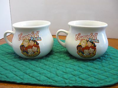 Set Of Two Campbell Kids 100 Year Celebration Mugs 1904-2004 #31276