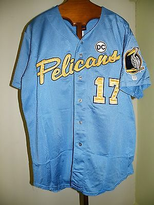 2007 Myrtle Beach Pelicans Game Used Jersey Elvis Andrus