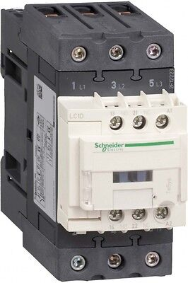 Telemecanique Tesys D LC1D50AV7 3 Pole Contactor, 50 A, 22 kW, 400 V ac Coil
