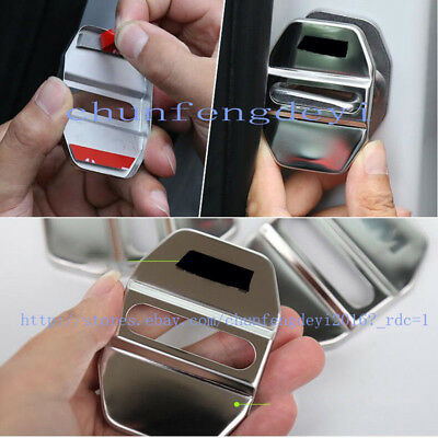 4pcs stainless Silver M style Car Door Lock Covers For BMW X1 F48 2016-2017