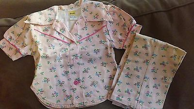 Vintage Children's Outfit~1980's~Girls 2 piece ~Size 4~flowered