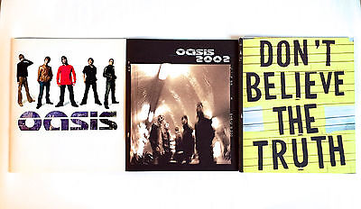 OASIS lot of 3 WORLD TOUR CONCERT PROGRAM BOOK 2000 & 2002 & 2005 Liam Gallagher