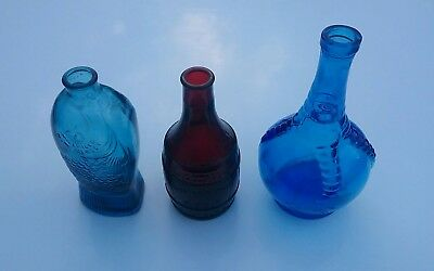 Lot Of 3 Vintage Wheaton NJ Glass Bottles Ball Claw Fish Root Bitters
