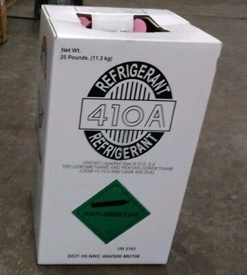 (1) R410A  25 lb.new factory sealed Virgin refrigerant Same Day shipping