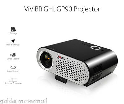 ViViBRiGHt GP90 LCD Video Projector 3200 Lumens 1280 x 800 for Home Theater EU
