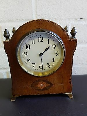 Antique French Inlaid Mahoghany Table/mantel Clock