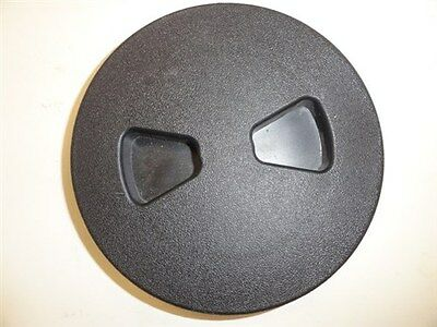 Set of 2 TH Marine Black Plastic Boat Gunnel Molding End Caps