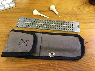 Vtg Braille Reader Metal With Case Amer Printing House For The Blind Kentucky