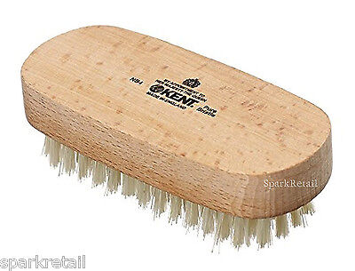 Kent Beechwood Luxurious Natural White Bristle NAIL BRUSH NB4