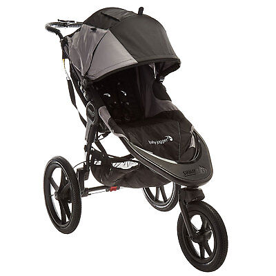 Baby Jogger Summit X3 Multi Terrain Swivel Wheel Single Jogging Stroller, Black