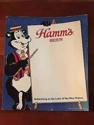 Hamm's Beer Cardboard Counter Display Sign 13 In. X 15 In.