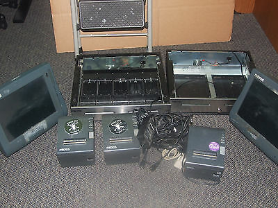 lot of 2 micros pos terminals with drawers and printers