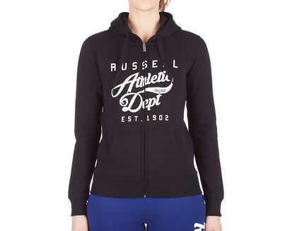 Russell Athletic Women's Rosette Zip Thru Hoodie - Black