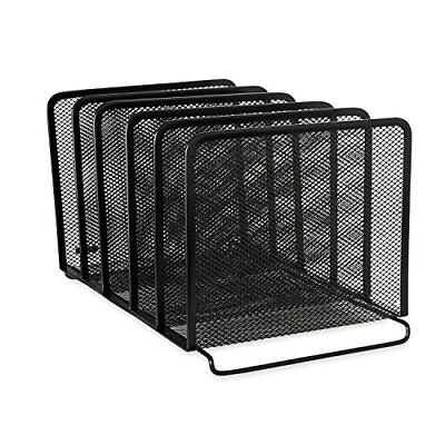 Rolodex Mesh Collection Stacking Sorter 5-Section Black