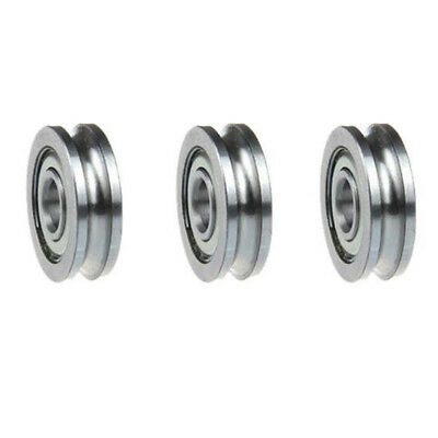 5 Pcs Sealed Guide Wire Track Wheels Roller U Groove Pulley Ball Bearing