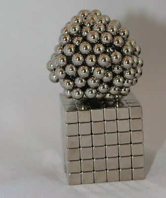 (432) Balls & Cubes Combo 216 each 5mm Magnetic Neodymium Magnets Puzzle US Ship
