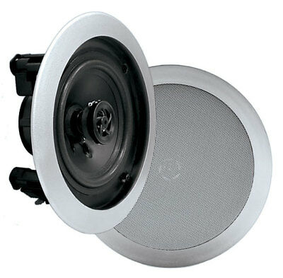 """Pyle PDIC51RDSL 5.25"""" In-Wall Ceiling 2-Way Flush Mount Two Way Stereo Speakers"""