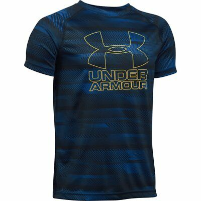 Boy's Under Armour Big Logo Hybrid Printed T Shirt