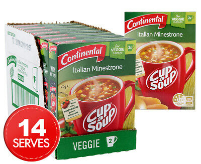 7 x Continental Cup A Soup Italian Minestrone 2pk