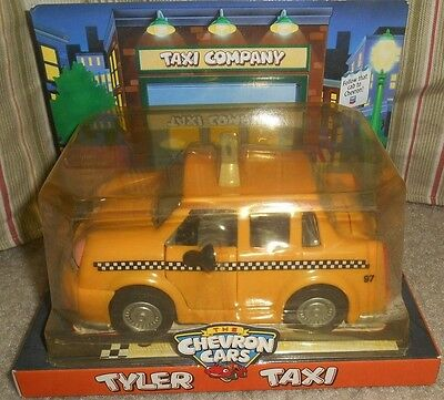 Toy Car TYLER TAXI Collectible Chevron Cars New Sealed Package 1997 NIP