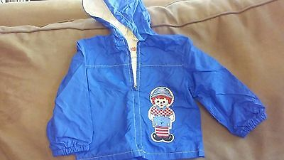 Vintage Children's Jacket~Boys~1970's~Windbreaker Size 3~Raggedy Andy