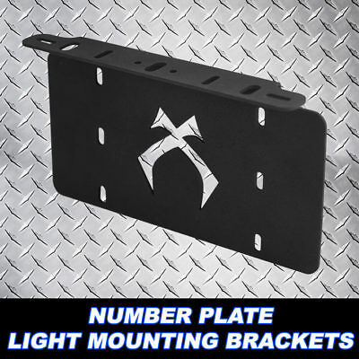 Number Plate Bullbar Frame Mounting Bracket Light Bar Mount Holder US Style