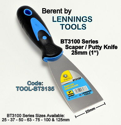 BERENT - SCRAPER / PUTTY KNIFE - BT3100 SERIES - 25mm - 1 pc - (TOOL-BT3135)