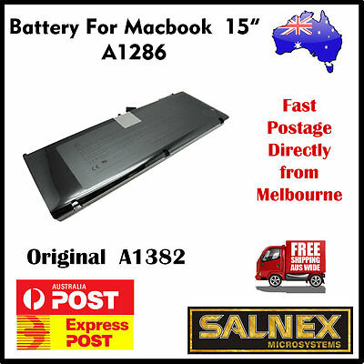 """Brand New Genuine Battery A1382 for Apple MacBook Pro 15"""" A1286  2011 Model"""