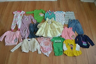 Girls Clothing 6-12 Months Lot Of 16 Good Condition!