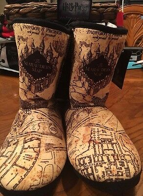 WB Harry Potter Marauders Map Slipper Boots