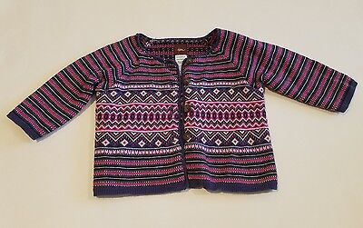 Tea Collection baby infant girl knit cardigan button up sweater size 6 12 month