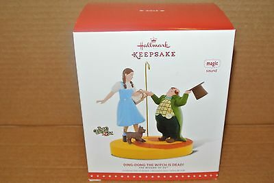 "Hallmark Wizard of Oz ""Ding-Dong the Witch is Dead"" Ornament w/ Magic Sound NIB"