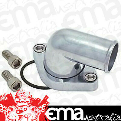 Billet Aluminium 90° Water Neck Chev Small & Big Block Polished 4933