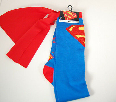 New superman knee high socks with cape one size