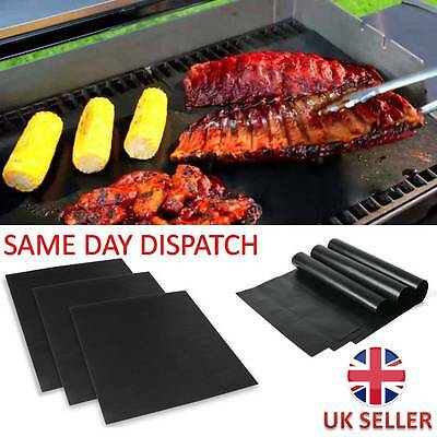BBQ Grill Mat Sheet Resistant Reusable Non-Stick Barbecue Baking Bake Meat