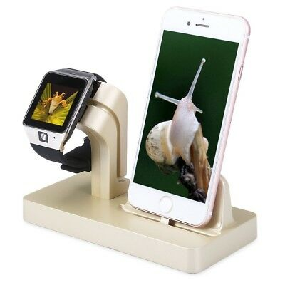 Desktop Stand Charger Bracket Holder Kit Charging Dock For iPhone/Apple Watch R