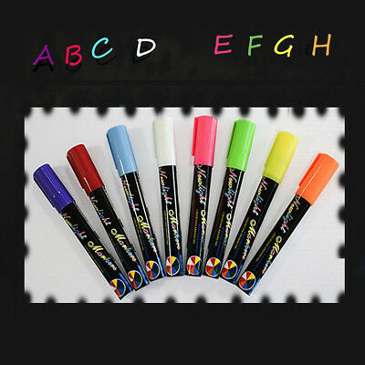 8 Colours Dual Nib 6mm Neon Erasable Liquid Chalk Highlighter Fluorescent Marker