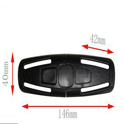 New Safety Car Seat Strap 5 point safety Belt Buckle Lock Kid Chest Harness Clip
