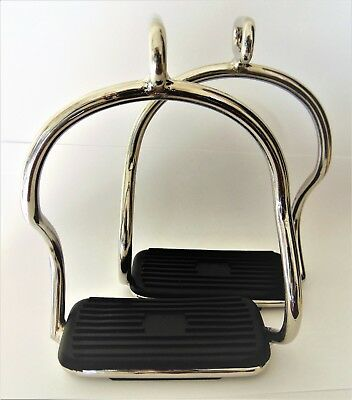 Irons Double Bent Leg Safety Shape Stirrups Light Weight Stainless Steel