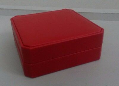 Bulk Lot Large Red Leather like Coin Display Box to display coin up to 46mm x 20