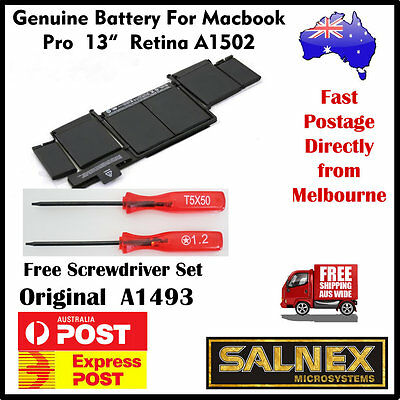"""Genuine Battery A1493 for Apple MacBook Pro 13"""" Retina A1502- 2013 2014 Models"""