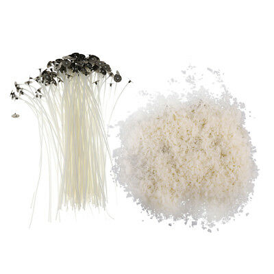 100% Soy Wax Flakes No Additives + 20Cm Cotton Waxed Wicks For Candle Making
