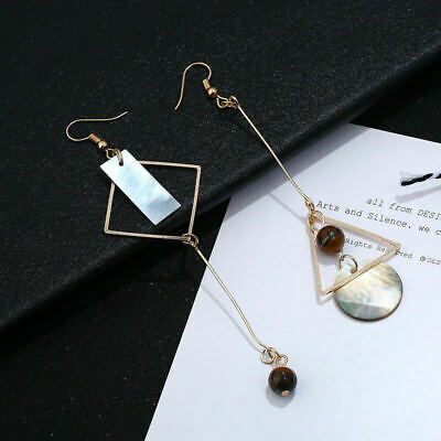 Fashion Asymmetric Geometric Long Earrings Hook Dangler Drop For Woman Gift