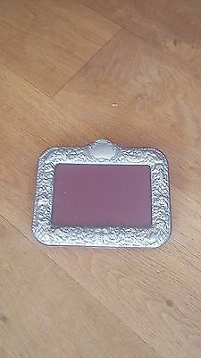Vintage silver plated photo frame
