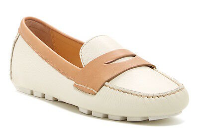 6473496ab7e Cole Haan Women s Leather Ivory Brown Air Sadie Driver Penny Loafer 6338 Sz  ...