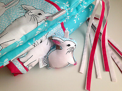 NEW Cute Bunnies Galore Cot Crib Bumper & Rattle Set