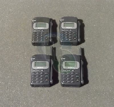 Lot x4 RARE Vintage Sony CM-RX100 Portable Cell Cellular Phone Parts Or Repair