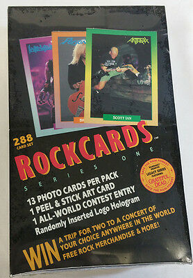 Rock Cards 36 Packs Per Box Unopened Box  Series 1 Trading Cards
