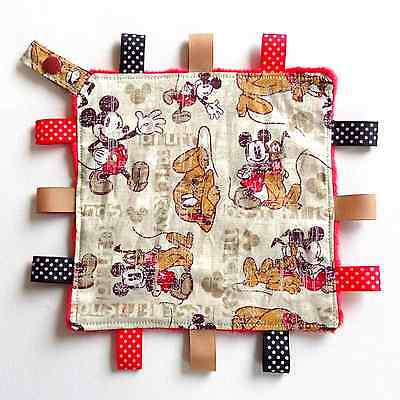 Mickey Mouse Mini Size TaGgie Security Blanket Toy baby Comforter dummy clip hol