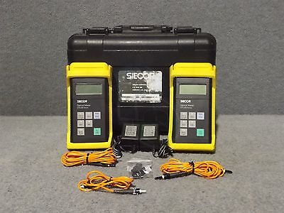 Siecor OTS-200 Series OTS-210 Fiber Optic Optical Meter x2 w/ Case OTS 200 210